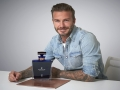 David Beckham with his surprise 40th birthday gift from HAIG CLUB™: a one-of-a-kind, handcrafted crystal decanter containing rare 40-year old HAIG CLUB™ Single Grain Scotch Whisky