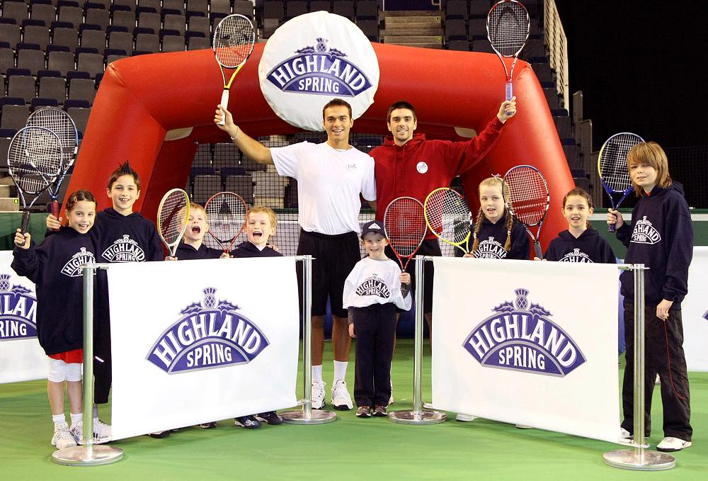 Highland Spring 'official supporter' of British tennis