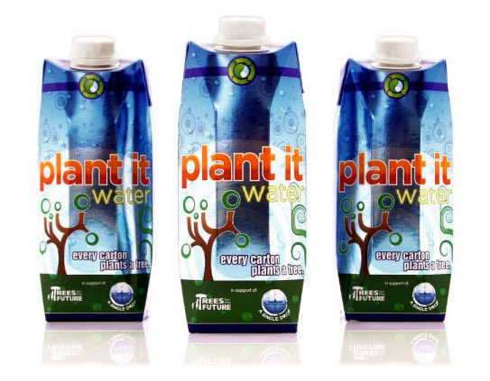 Plant It Water debuts packaging to challenge bottled water