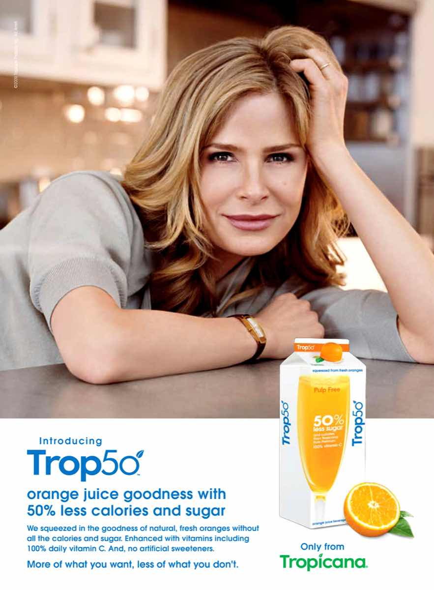 PepsiCo's Tropicana launches naturally sweetened Trop50
