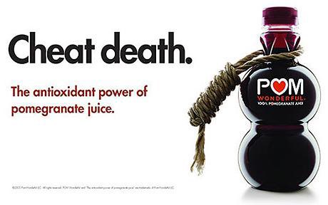 'Cheat death' POM Wonderful fruit juice advert banned