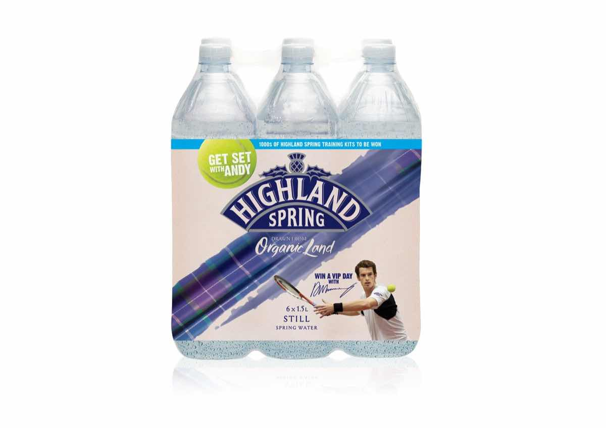 Highland Spring on-pack promotion taps into 'Murray mania'