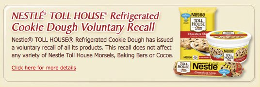 Nestlé USA recalls refrigerated cookie dough products