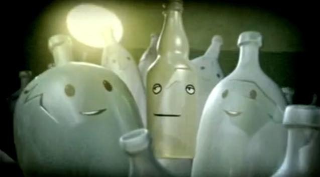 Hank the singing bottle promotes glass recycling