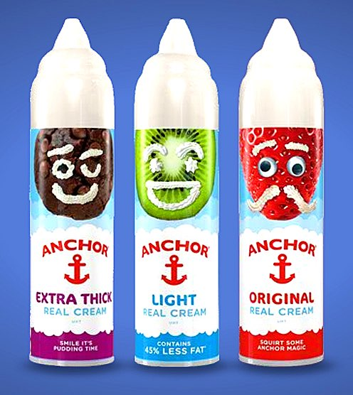 Anchor unveils new cheeky face of Squirty Cream