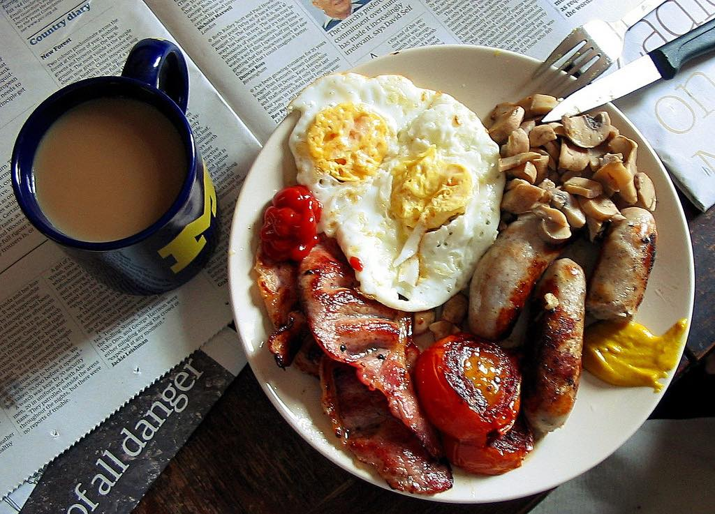 The cost of a 'Great British Breakfast' falls to £16.01