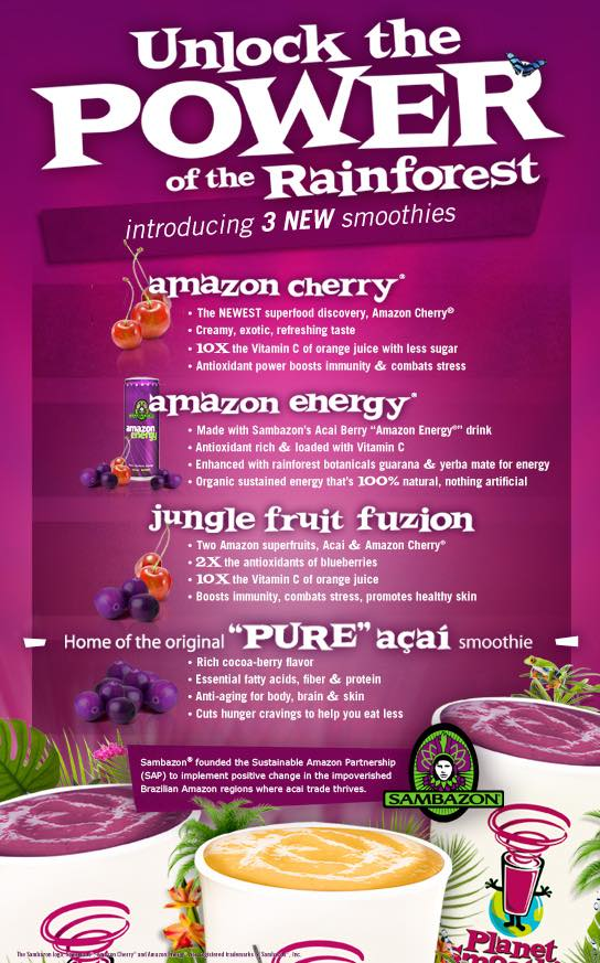 Planet Smoothie partners Sambazon to add acai to menu