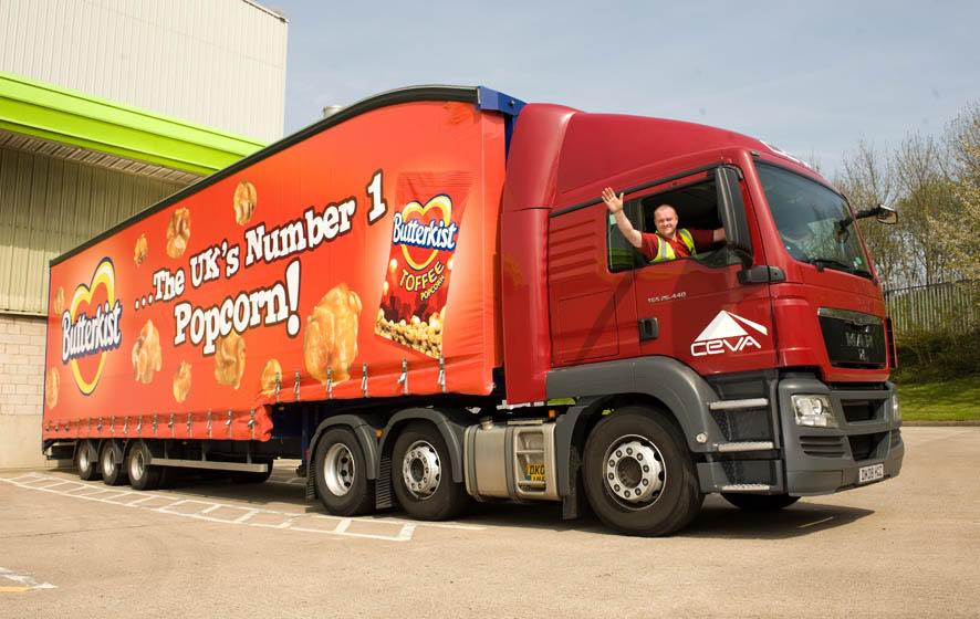 Tangerine launches Butterkist lorry