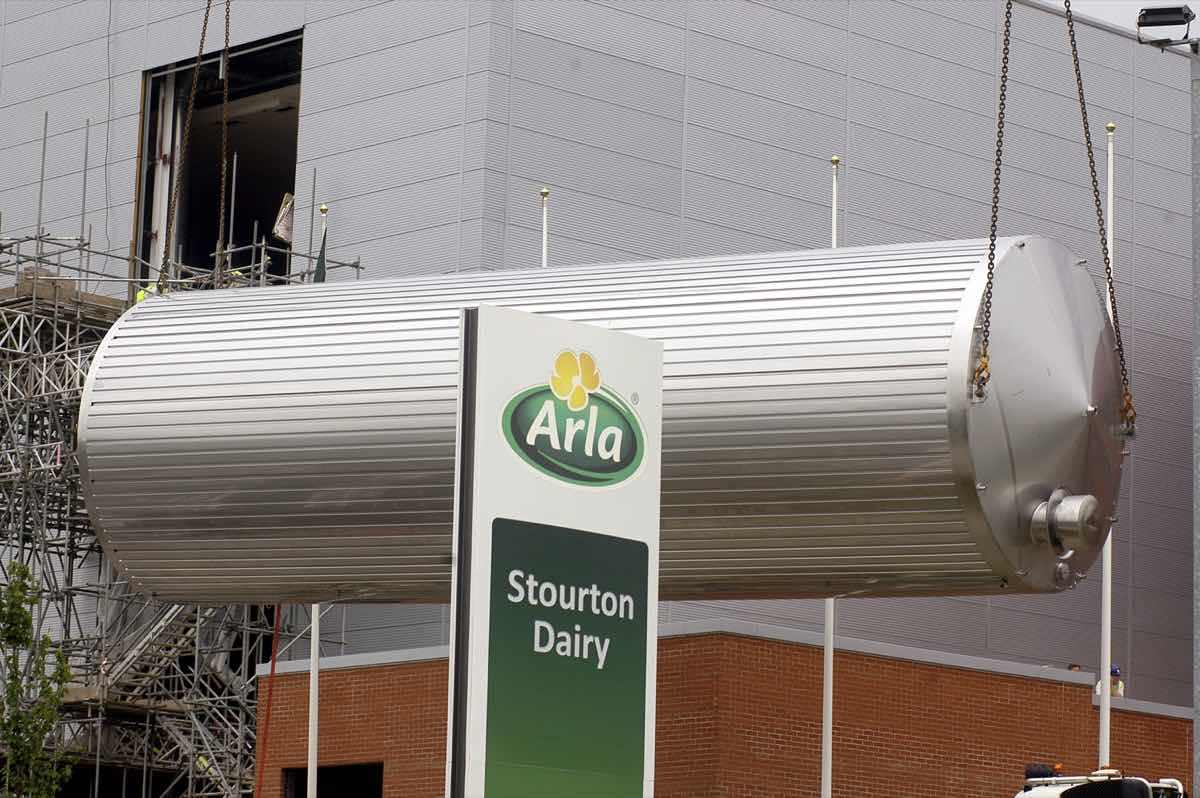 Arla's flagship UK dairy begins to take shape