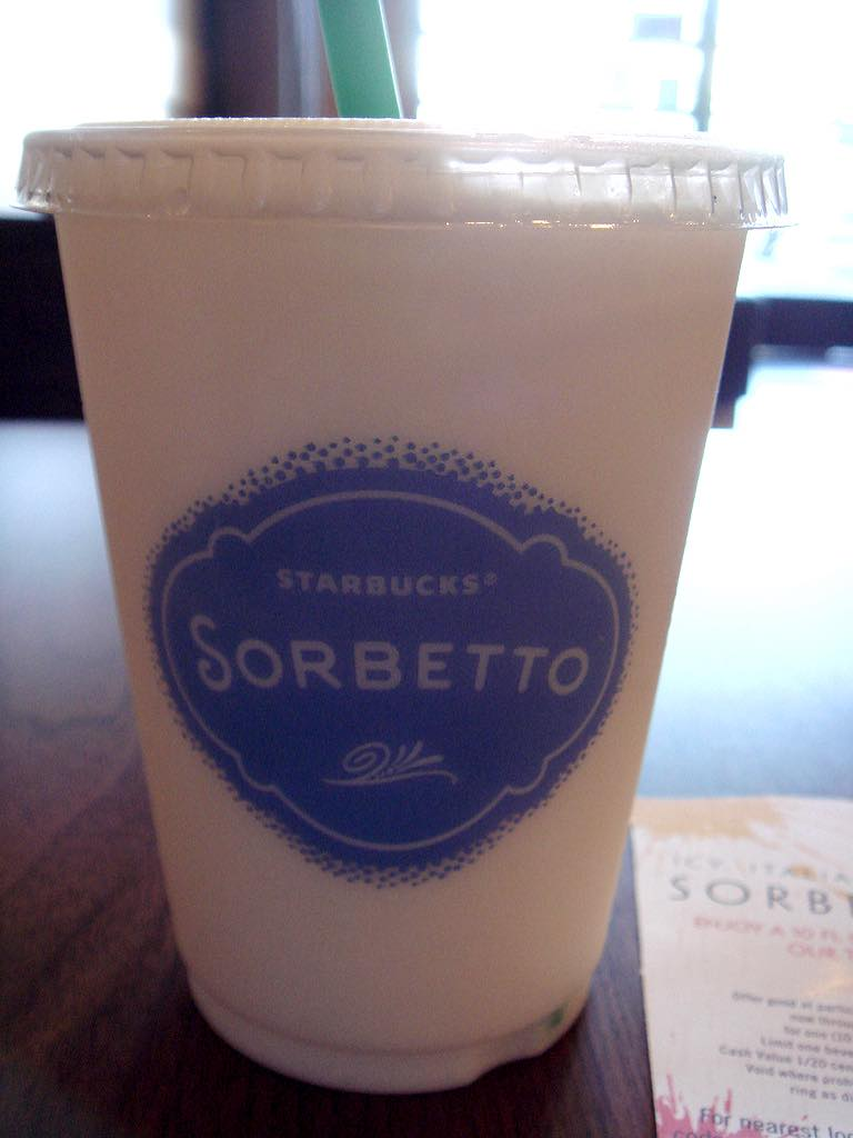 Starbucks drops Sorbetto from iced beverage range