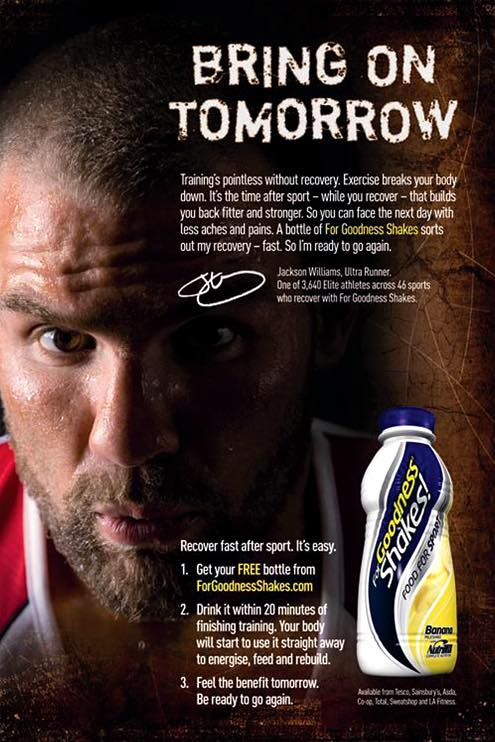 For Goodness Shakes – Britain's first after-sport drink