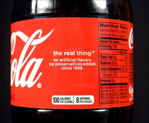 Coca-Cola set to include energy info on product labels