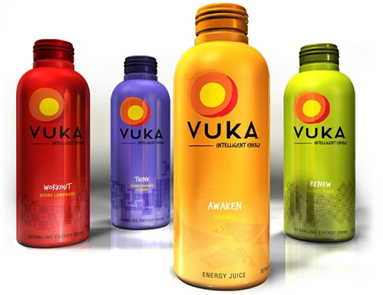 Vuka natural energy drinks launched in Exal alubottles