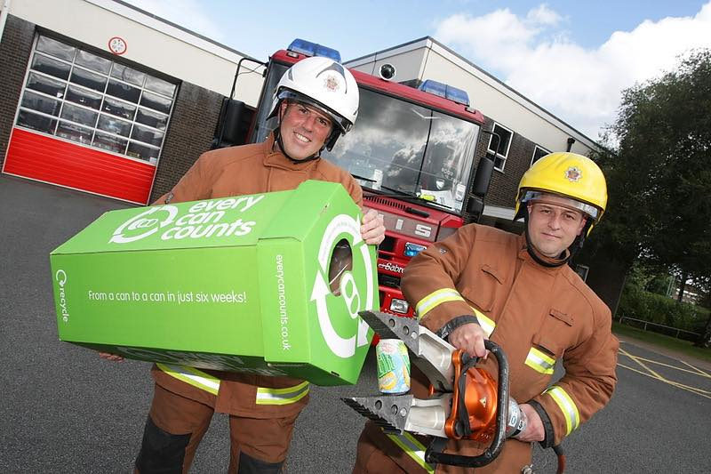 Every Can Counts gets West Midlands Fire Service recycling