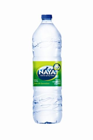 Naya introduces world's first 100% recycled bottle