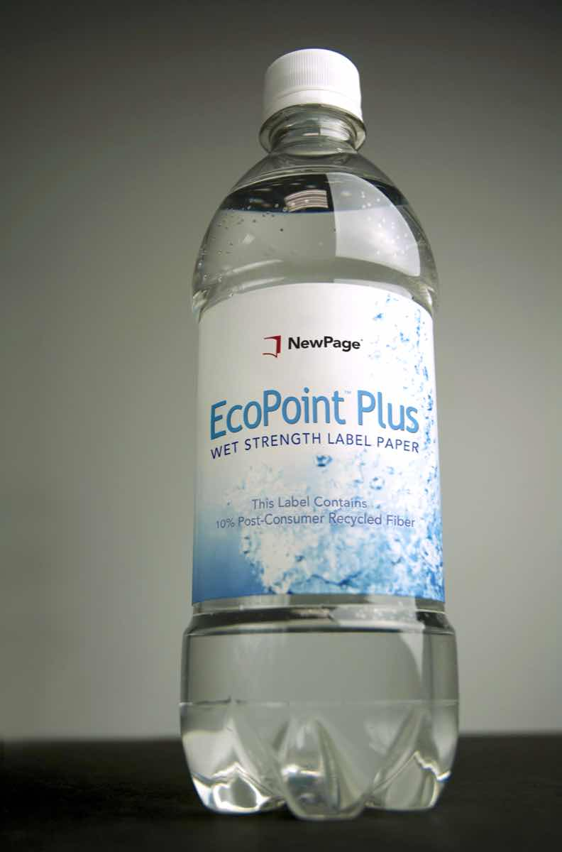 NewPage launches EcoPoint bottle label paper