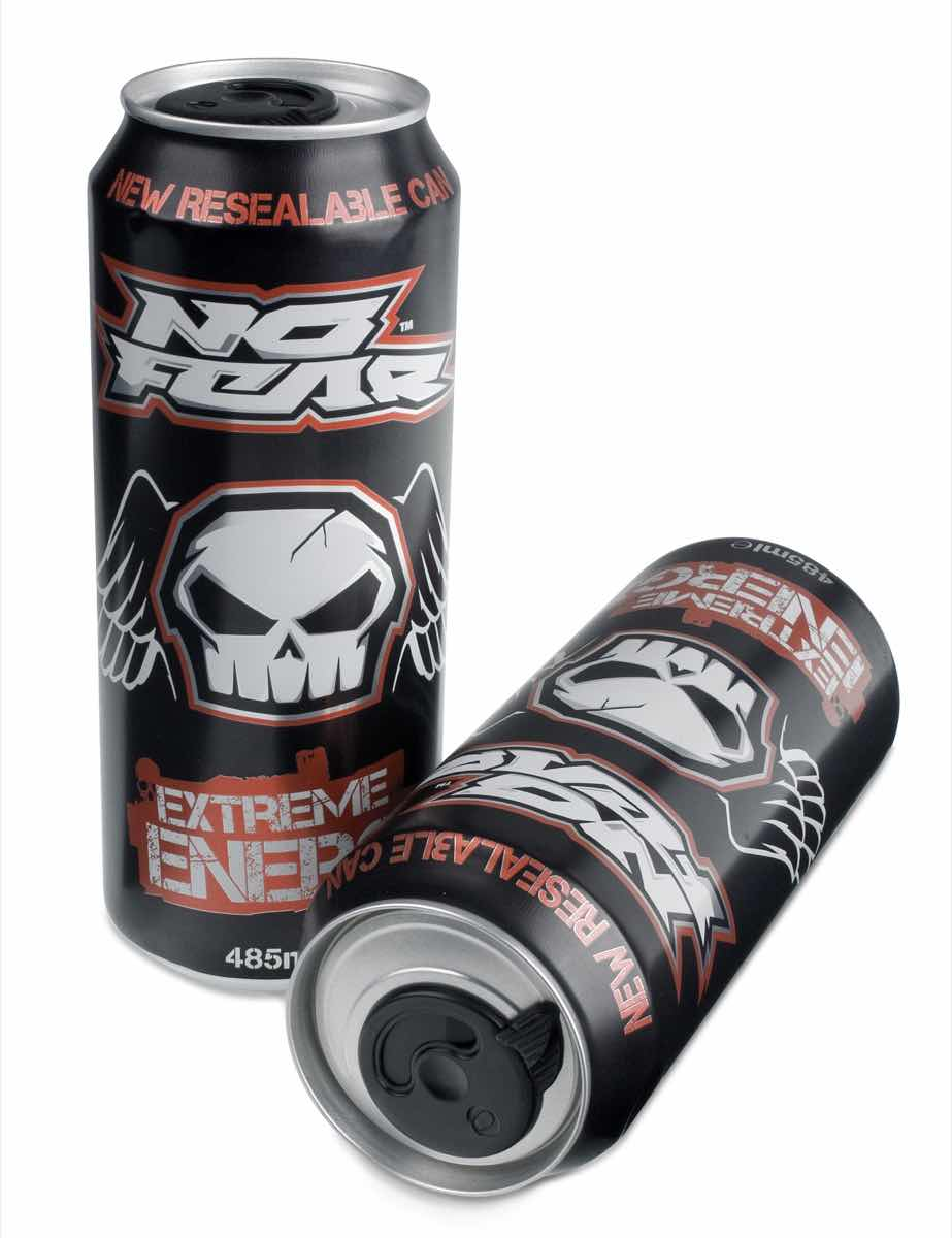 Aimia's No Fear Extreme Energy in UK's first re-sealable can