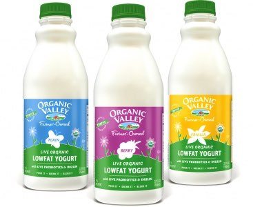 Organic Valley low-fat yogurts