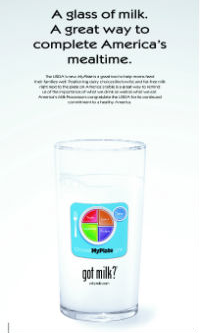 MilkPEP unveils MyPlate ad in USA Today