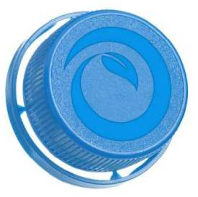 Cap made from sugar cane used on Brazilian milk cartons