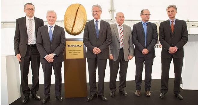 Giant coffee bean marks the start of Nespresso's third production centre