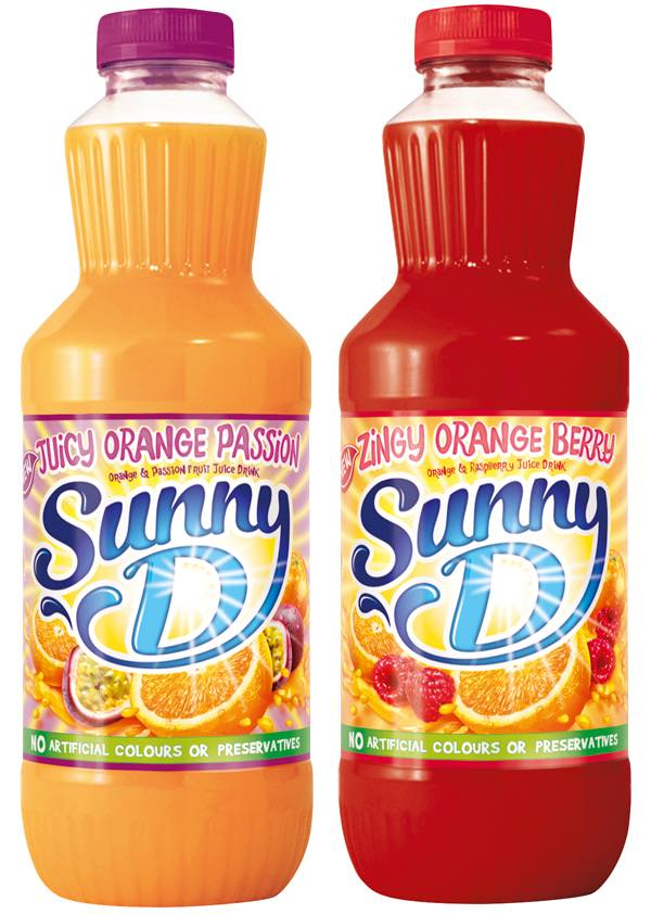 SunnyD launches two new flavours and adds vitamins