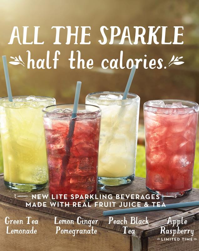 Lite Sparkling Teas and Juices by Caribou Coffee Company