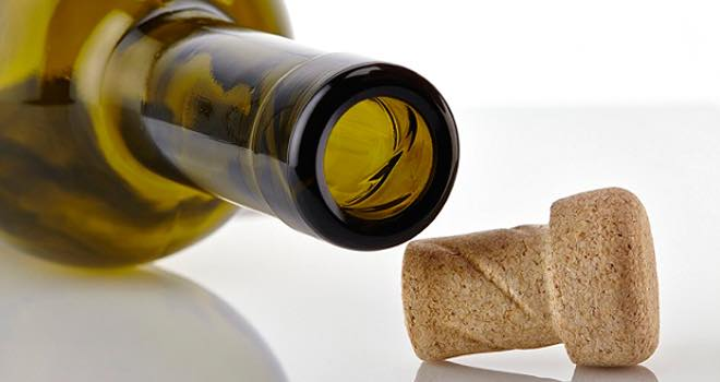 Helix cork-glass wine packaging solution