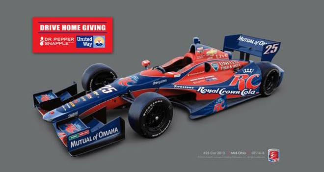 Marco Andretti's RC Cola Indy car to include United Way logo