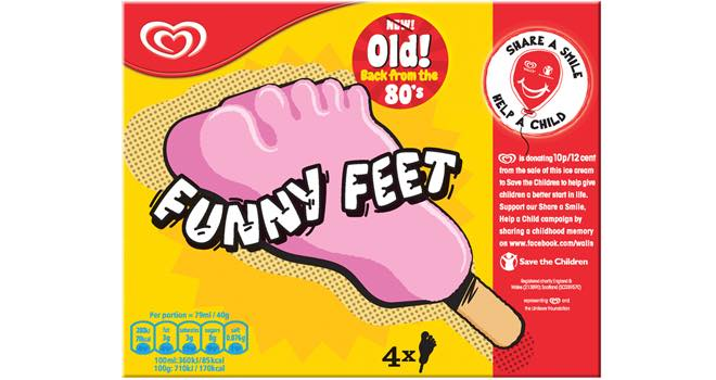 Wall's Funny Feet ice creams are back from the 1980s