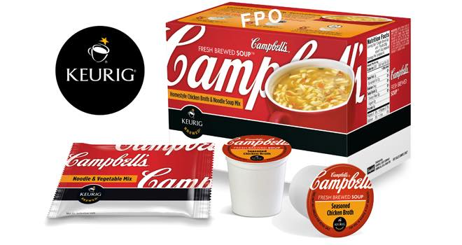 Campbell's to bring soup to Keurig Brewers