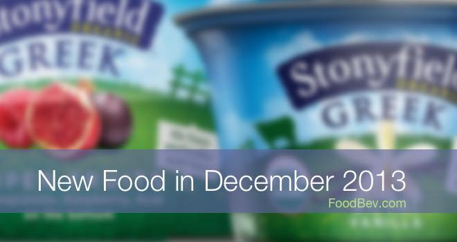 A gallery of new food products for December 2013