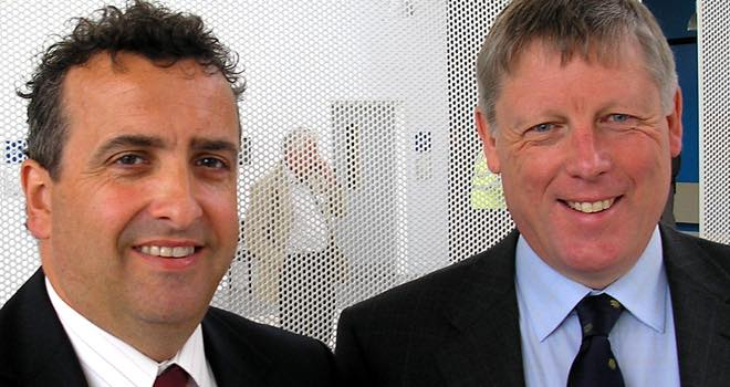 Nick Everington & Lyndon Edwards at the Dairy Event and Livestock Show 2009