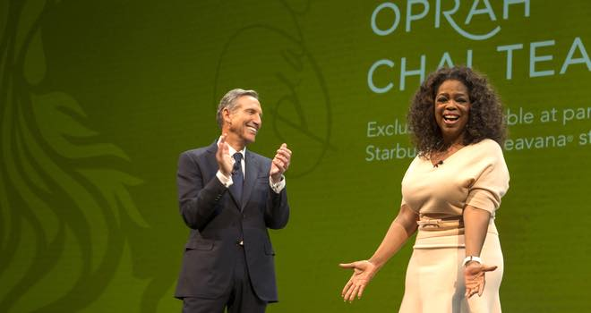 Starbucks and Oprah Winfrey create Teavana Oprah Chai Tea