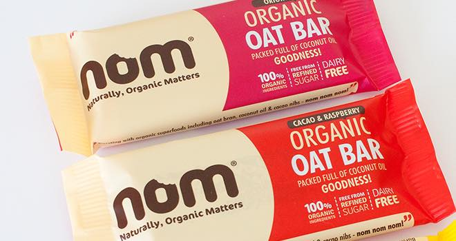 Organic health bars from nom foods now available in tesco for Food bar health