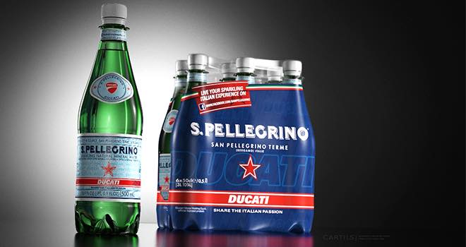 Cartils limited edition design for S.Pellegrino and Ducati