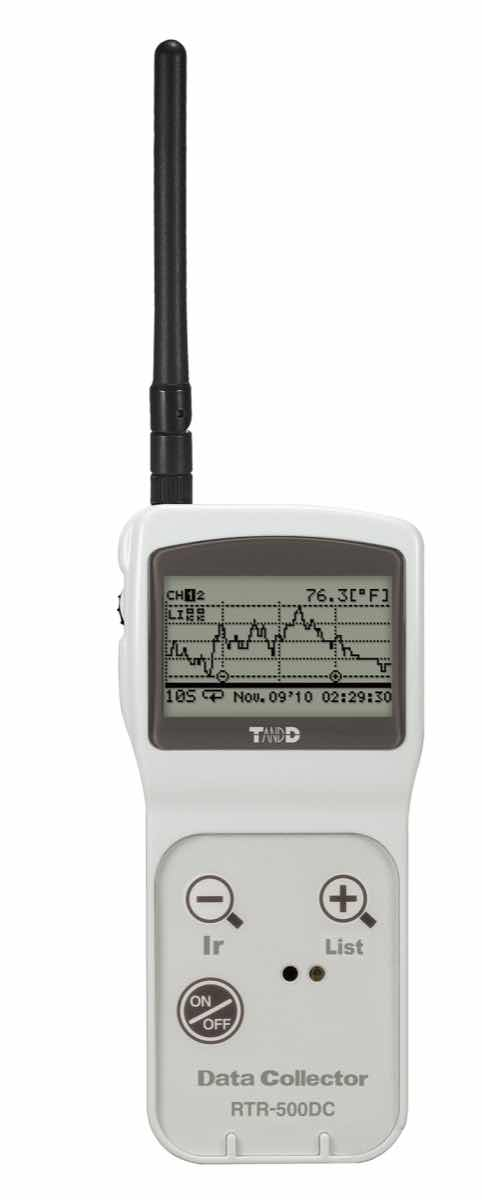 RTR-500DC wireless handheld data collector by T&D Corporation