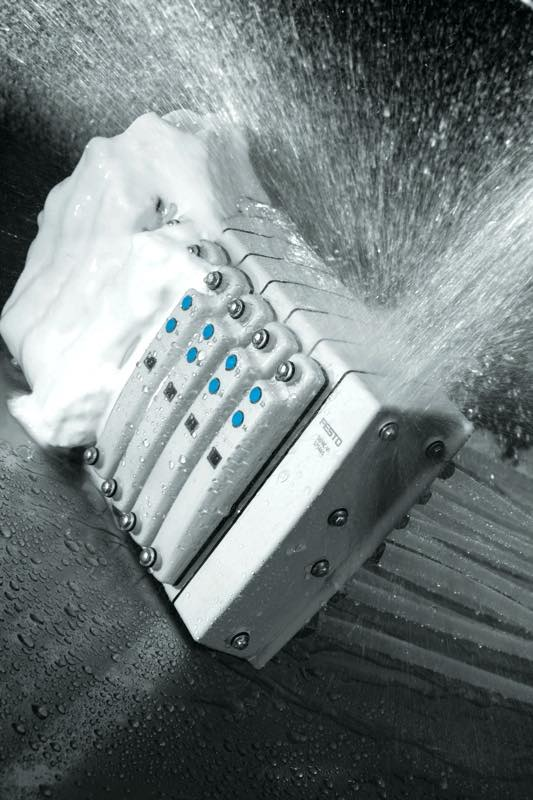 Festo's MPA-C valve terminal meets IP69K requirements