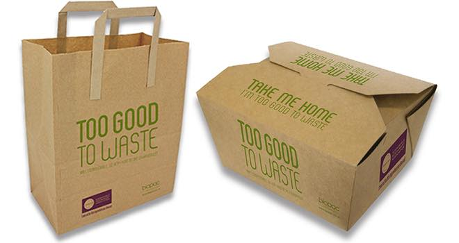 Biopac Take Home Boxes to help reduce food waste