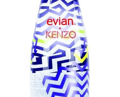 Evian and Kenzo unveil limited edition water bottle