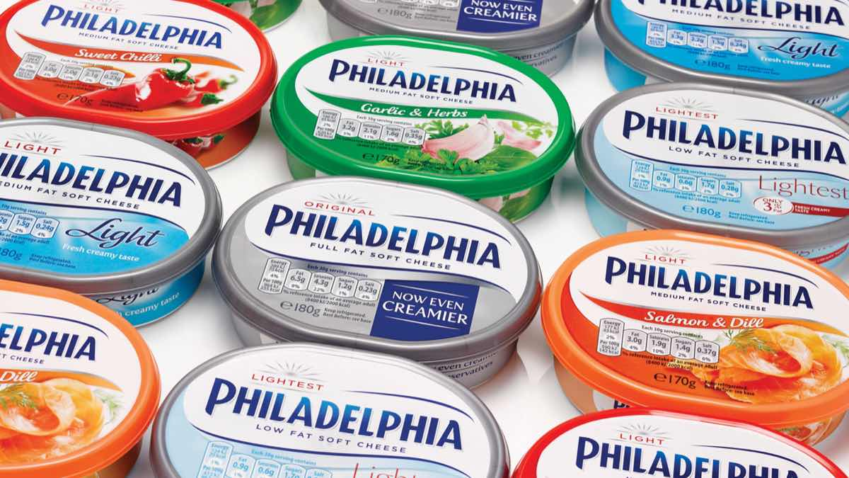 Mondelēz announces move to recycled plastic packaging for its Philadelphia tubs