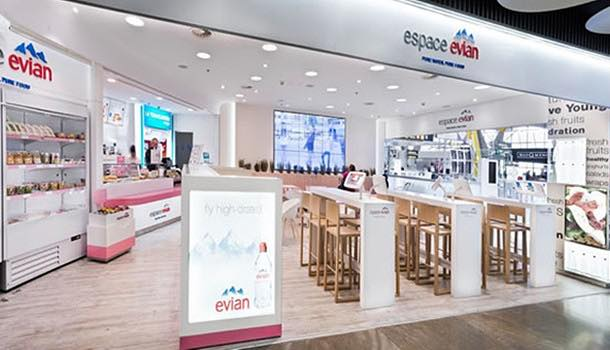 Áreas opens world's first Espace Evian outlet at Madrid Barajas Airport