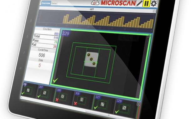 Microscan CloudLink web-based machine inspection interface