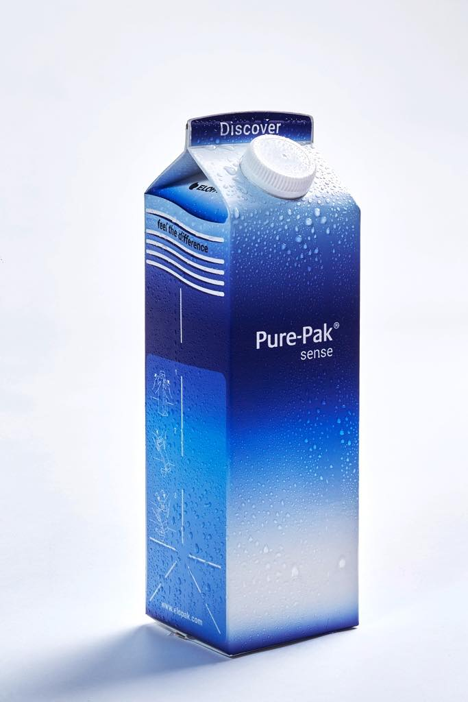 our elopak our future The collaboration between elopak and stora enso has resulted in the launch of the first gable top carton made from natural brown unbleached paperboard, creating the naturally pure-pak® carton with a highly distinctive, natural look and feel.