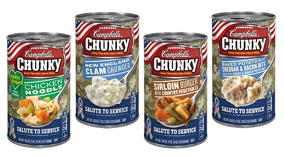 Limited edition Chunky soup cans from Campbell's