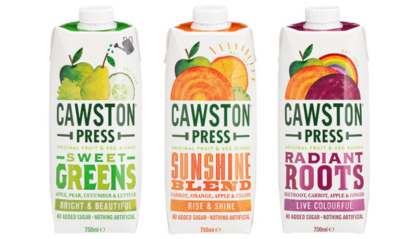 Cawston Press enters chilled drinks category with new fruit juice range