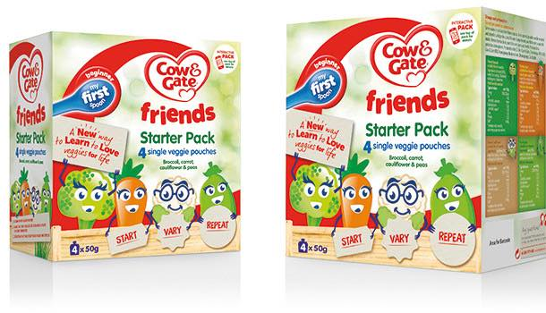 Cow & Gate 'Friends' savoury vegetable pouches