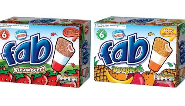 Nestlé adds limited tropical edition to Fab ice lolly range