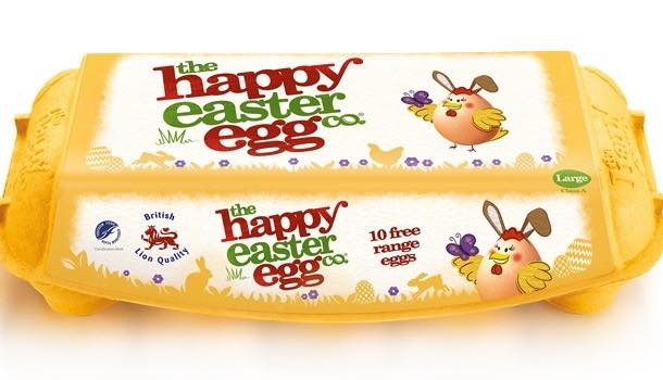 Ethical egg producer becomes The Happy Easter Egg Co. for seasonal rebrand