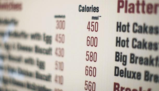 US Food & Drink Administration introduces calorie counts on menu